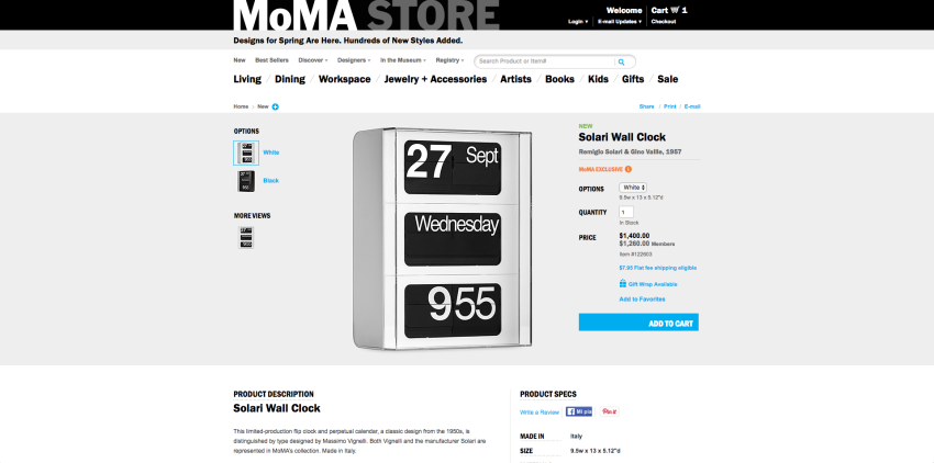 MoMA design store online