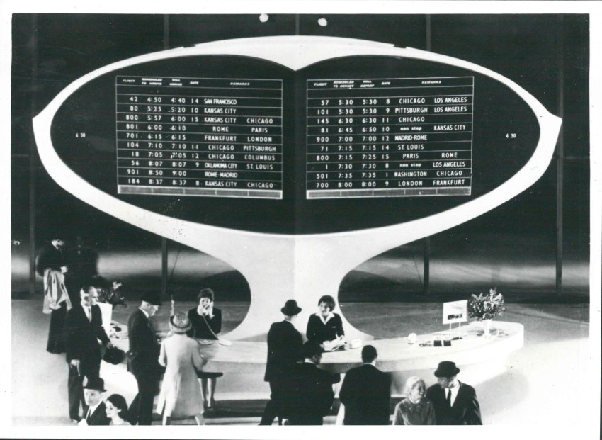Split-flap display TWA